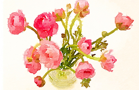 Waterlogue app flowers